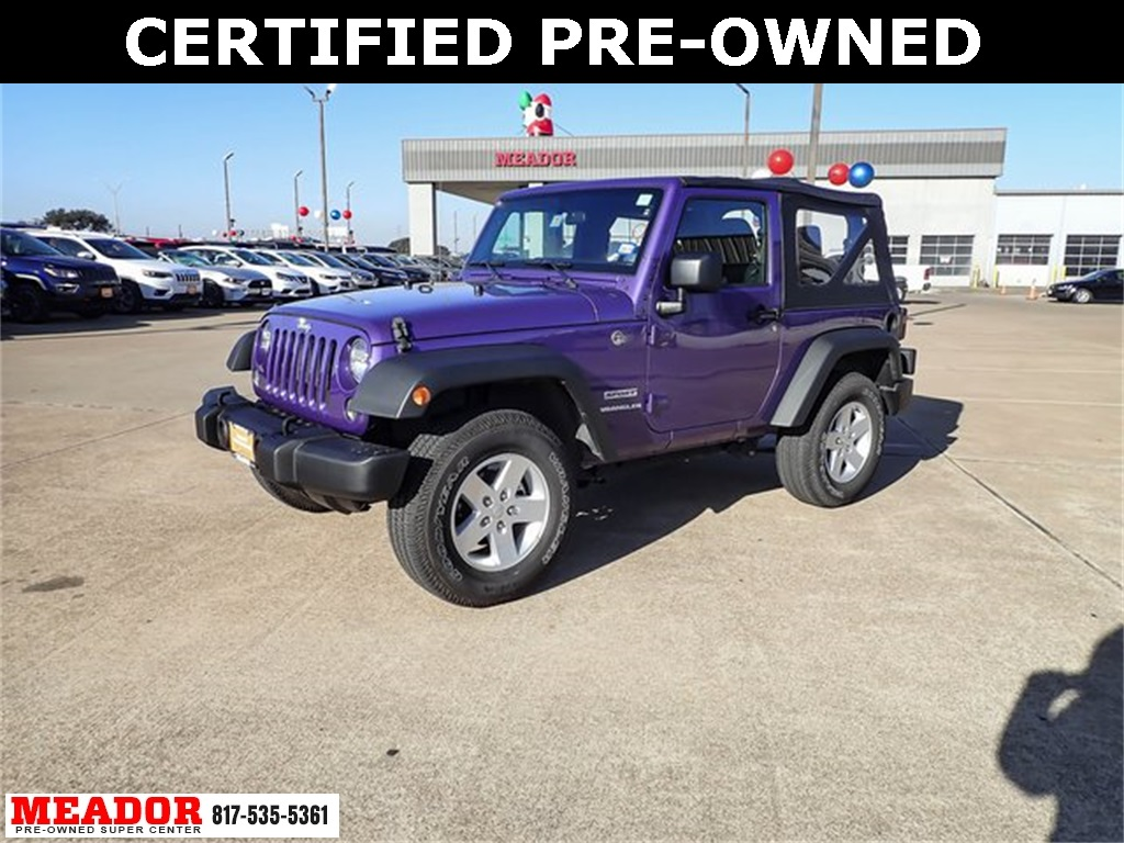Certified Pre-Owned 2017 Jeep Wrangler Sport